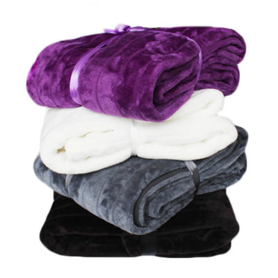 Stock Cheap Faux Fur Throw Blanket